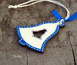 Dekorácie - Vianočná dekorácia zvonček folk - 7407067_