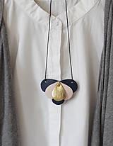 - Slzičkový kožený náhrdelník, prívesok - 7405103_