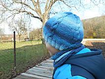 Čiapky - Modrá čiapka - 7404036_