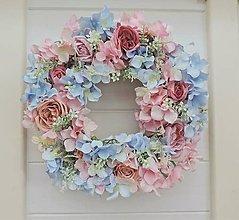 Dekorácie - Romantický veniec na dvere - 7405838_