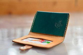 Peňaženky - peňaženka kožená/ obal na kartu MINIMANY - 7407591_