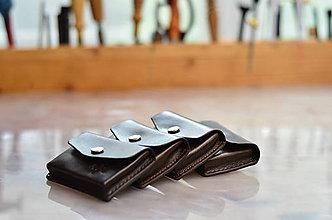 Peňaženky - peňaženka kožená TOM na 10 kariet / zadné vrecko - 7407658_