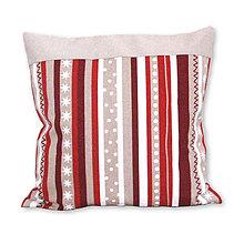 Úžitkový textil - Vankúš Vianočné prúžky - 7407251_