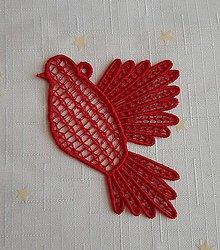 Dekorácie - Vianočná ozdoba holubička č. 18 - 7407577_