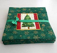 Úžitkový textil - Zelené podšálky - 7406143_
