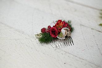 Ozdoby do vlasov - Vianočný hrebienok