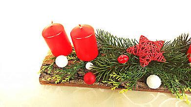 Dekorácie - Vianočný adventný svietnik č. 4 - 7404168_