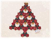 Dekorácie - Vianočný stromček Origami 15 - 7403396_