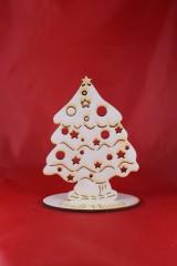 Dekorácie - Drevená vianočná ozdoba stromček 57 - 7404099_