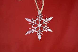 Dekorácie - Vianočná ozdoba z plexiskla 11cm 56 - 7403998_