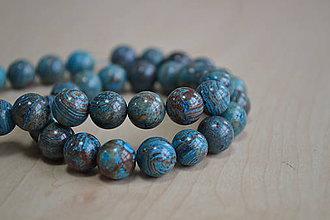 Minerály - Modrý achát 10mm, 0.35€/ks - 7403147_