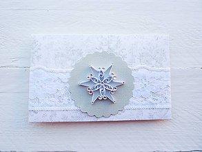 Papiernictvo - vianočná darčeková obálka - 7405034_