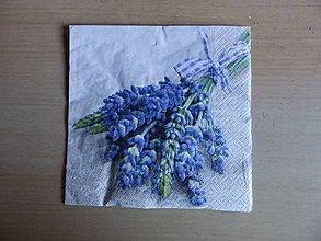Papier - kytica z levndule - 7404598_