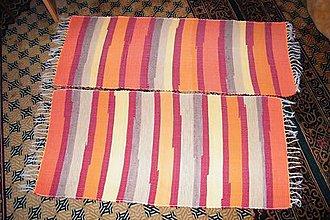 Úžitkový textil - Tkané koberce oranžovo-hnedo-žlté - 7407246_