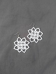 Náušnice - kvetinkové biele - 7403743_