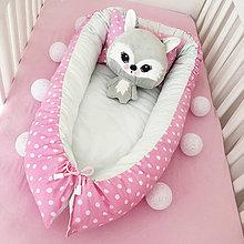 Textil - Hniezdo pre novorodeniatko - Polka Dots - 7409604_