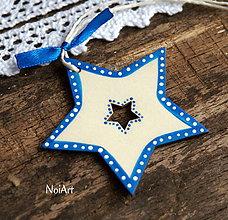 Dekorácie - Vianočná dekorácia hviezda folk - 7407857_