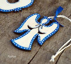 Dekorácie - Vianočná dekorácia anjel folk - 7408008_