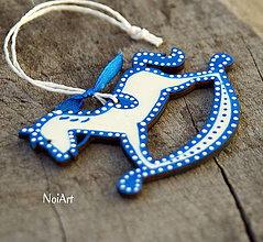 Dekorácie - Vianočná dekorácia koník folk - 7411280_