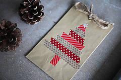Papiernictvo - Darčekové vrecúško - vianočný stromček - 7411078_