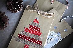 Papiernictvo - Darčekové vrecúško - vianočný stromček - 7411079_