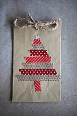 Papiernictvo - Darčekové vrecúško - vianočný stromček - 7411080_