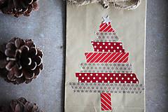 Papiernictvo - Darčekové vrecúško - vianočný stromček - 7411081_