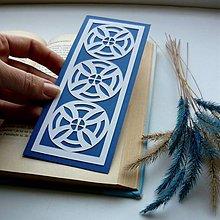 Papiernictvo - Modro-biely vzor... - 7412119_