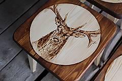 Nábytok - drevený stolček - 7412069_