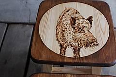 Nábytok - drevený stolček - 7412070_