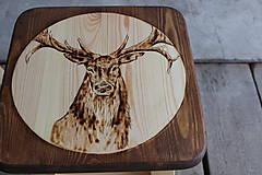 Nábytok - drevený stolček - 7412071_