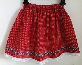Sukne - Detská folk suknička - 7411199_