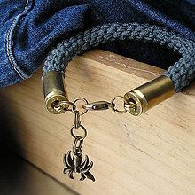 Šperky - náramok s nábojnicami šedý - 7409319_