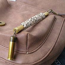 Kľúčenky - kľúčenka s nábojnicami zo šnúry - 7409458_
