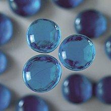 Iný materiál - Sklenené kamene Modrá svetlá - 7410044_