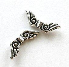Komponenty - Anjelské krídla 15x5 mm - platina (1 ks) - 7411397_