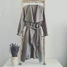 Kabáty - Flaušový kabát - 7408737_