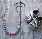 """- Silikónový náhrdelník na kojenie """"Barbie"""" - 7407822_"""