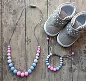 """- Set silikónového náhrdelníka a náramku na žužlanie """"Barbie"""" - 7407841_"""