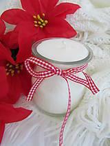 Svietidlá a sviečky - Sviečka v skle zo 100% palmového vosku - 7408784_