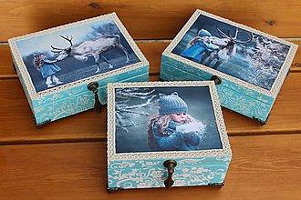 Krabičky - krabičky - šperkovničky Zimná rozprávka - 7409879_
