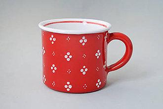 Nádoby - Kafáč 4puntík 8 červený cca 0,3 l - 7413275_