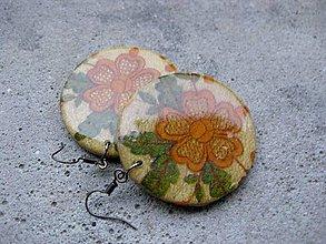 Náušnice - Kruhy (Jesenný kvet - hruhy č.617 - Akcia) - 7411036_