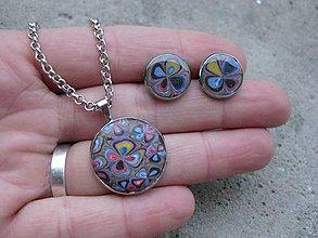 Sady šperkov - Bláznivé kvietky - sada č.619 - 7411483_