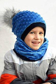Detské súpravy - Zimný set s odopínacím brmbolcom -obojstranný ...alebo farbu si vyber! - 7413054_