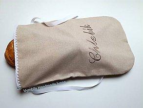 Úžitkový textil - Vrecko na chlieb - veľký - 7409606_