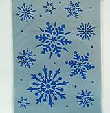 - Šablóna - 15x20 cm - vločky, sneh, vianoce, zima, merry christmas - 7414025_