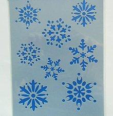 Pomôcky/Nástroje - Šablóna - 15x20 cm - vločka, sneh, vianoce, zima, merry christmas - 7413712_