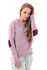 Mikiny - Mikina Ripped Pink - 7414746_