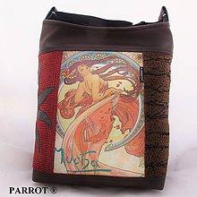 Kabelky - ART NOUVEAU - SECESE * A. MUCHA * no.2. PARROT® - 7415678_